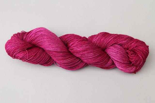 British superwash BFL hand-dyed 4 ply 'La Vie En Rose'