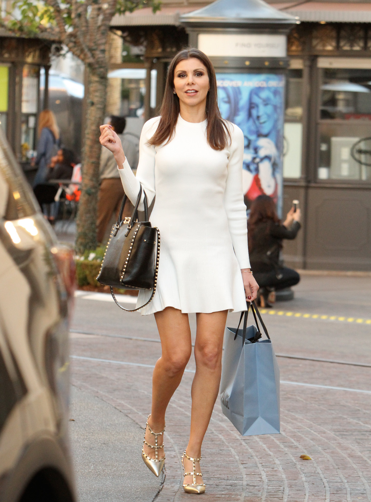 Heather Dubrow Seen Shopping At The Grove In La 12 3 15