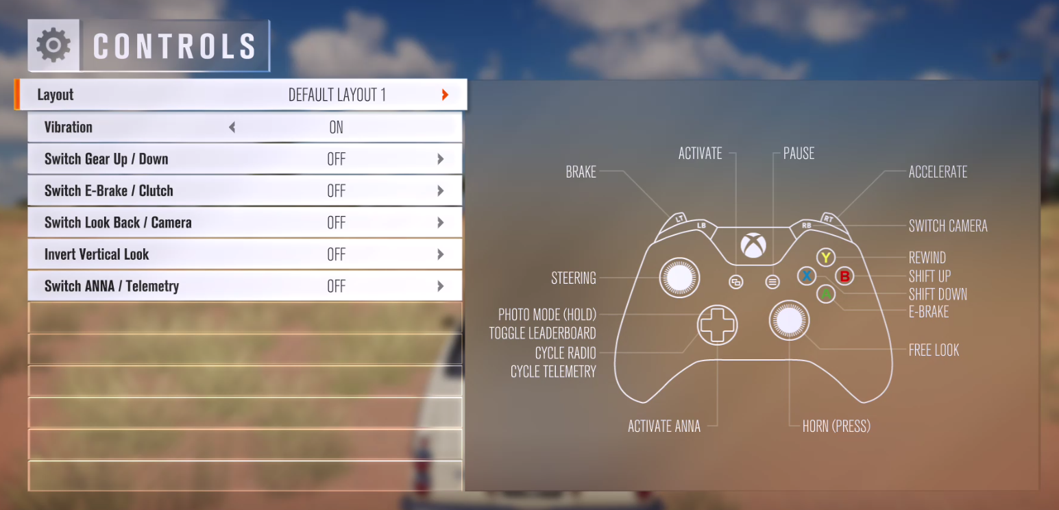Which button is the horn? - Horizon 3 Discussion - Forza