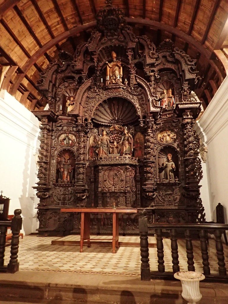 Altar made entirely from hand carved wood