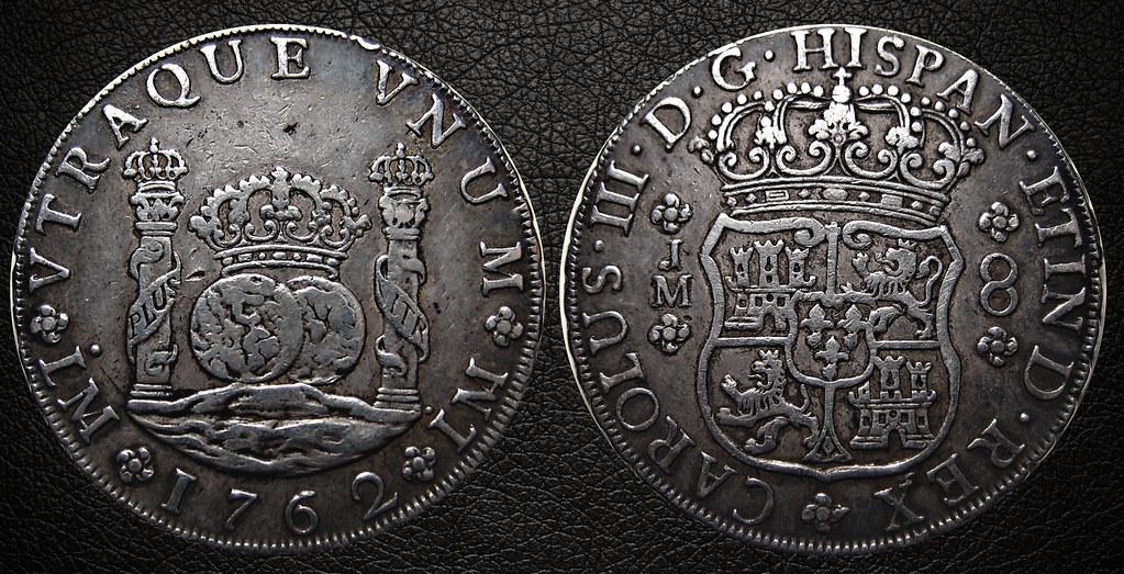 8 Reales de 1762. Carlos III, Lima 23218387994_7817dcc085_b