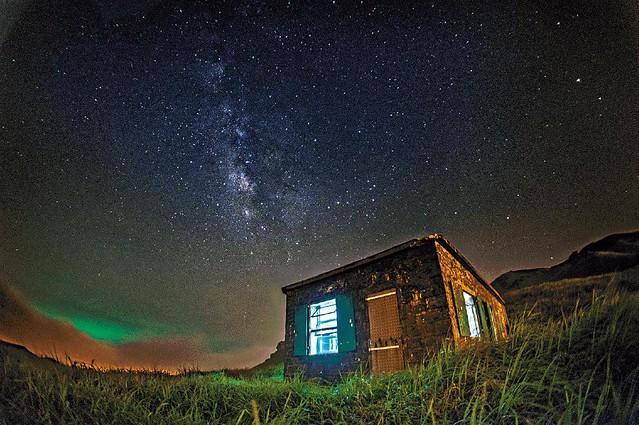 日落 星光 銀河 ………..大東山