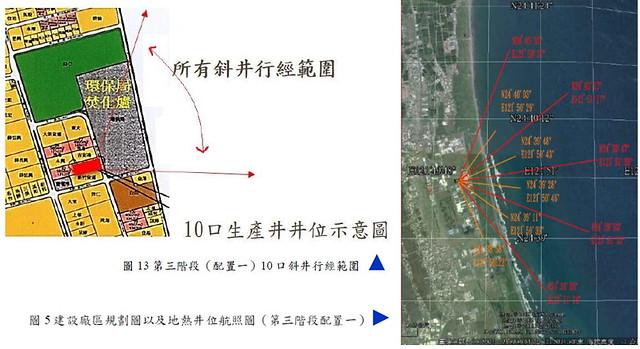 利澤地熱開發十口斜井規劃圖  資料來源:蘭陽地熱公司