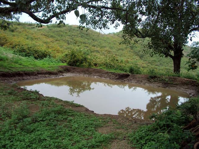 उत्तरकाशी के हिमरोल गाँव में कुन्दन सिंह राणा द्वारा बनाया गया तालाब