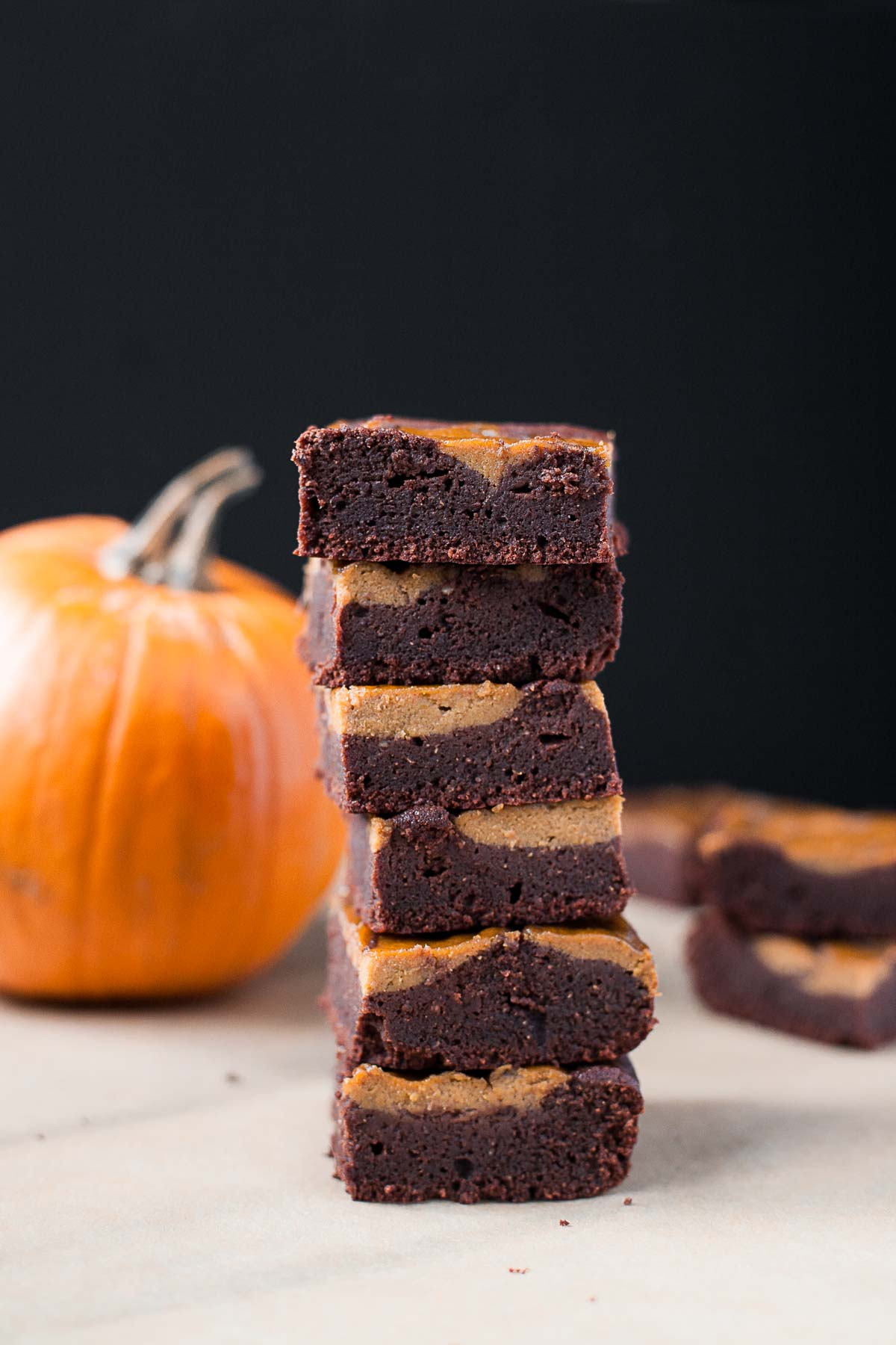 Pumpkin Swirl Brownies (Paleo, Nut free)