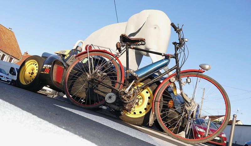 Mosquito - Vélo 1942 et moteur 1958 - Sainte Geneviève (91) Dec 2016 30573262994_d1279e425d_c