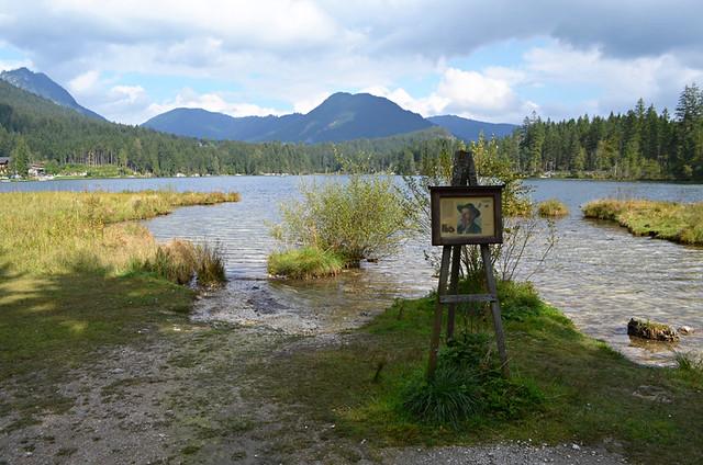 Artists at Lake Hintersee, Ramsau, Bavaria