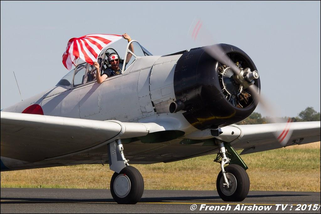 T-6 Zero & T-6 , F-AZRO , Aeroretro , F-AZCV, 28th FAI World Aerobatic Championships 2015 , WAC 2015 - France , Championnats de Monde de Voltige aérienne 2015, Meeting Aerien 2015