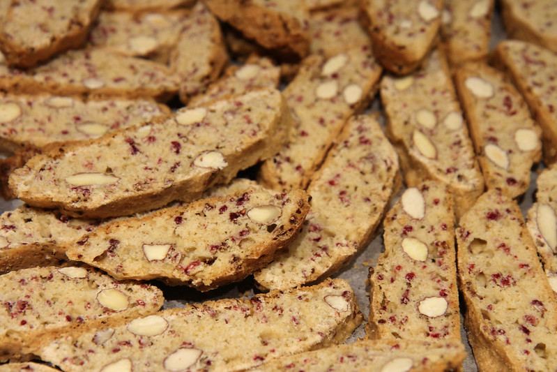 Raspberry and Almond Biscotti