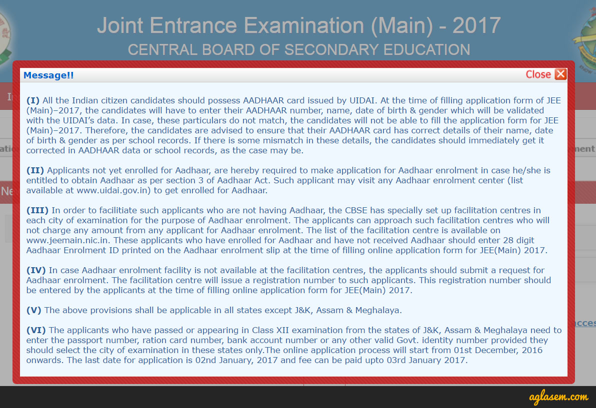 how to apply for jee main step by step form filling guide once you close this pop up you will see 3 simple steps to apply online 1 fill the application form 2 upload scanned images 3 pay the examination