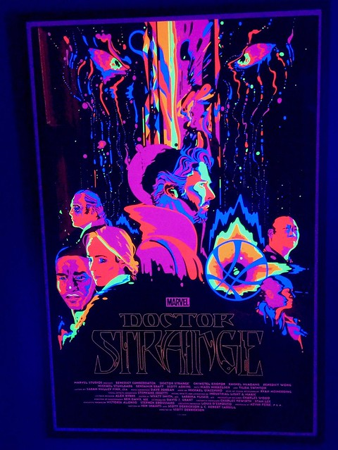 Dr Strange Blacklight Poster