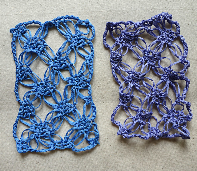 Blocked vs. unblocked crochet