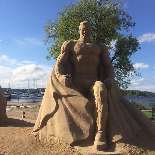 Superman Sand Sculpture
