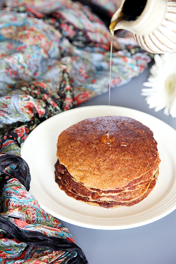 Eggfree Wholewheat Oatmeal Brownsugar Pancakes