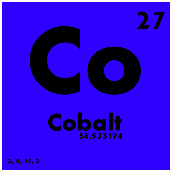 027 Cobalt Periodic Table Of Elements Watch Study