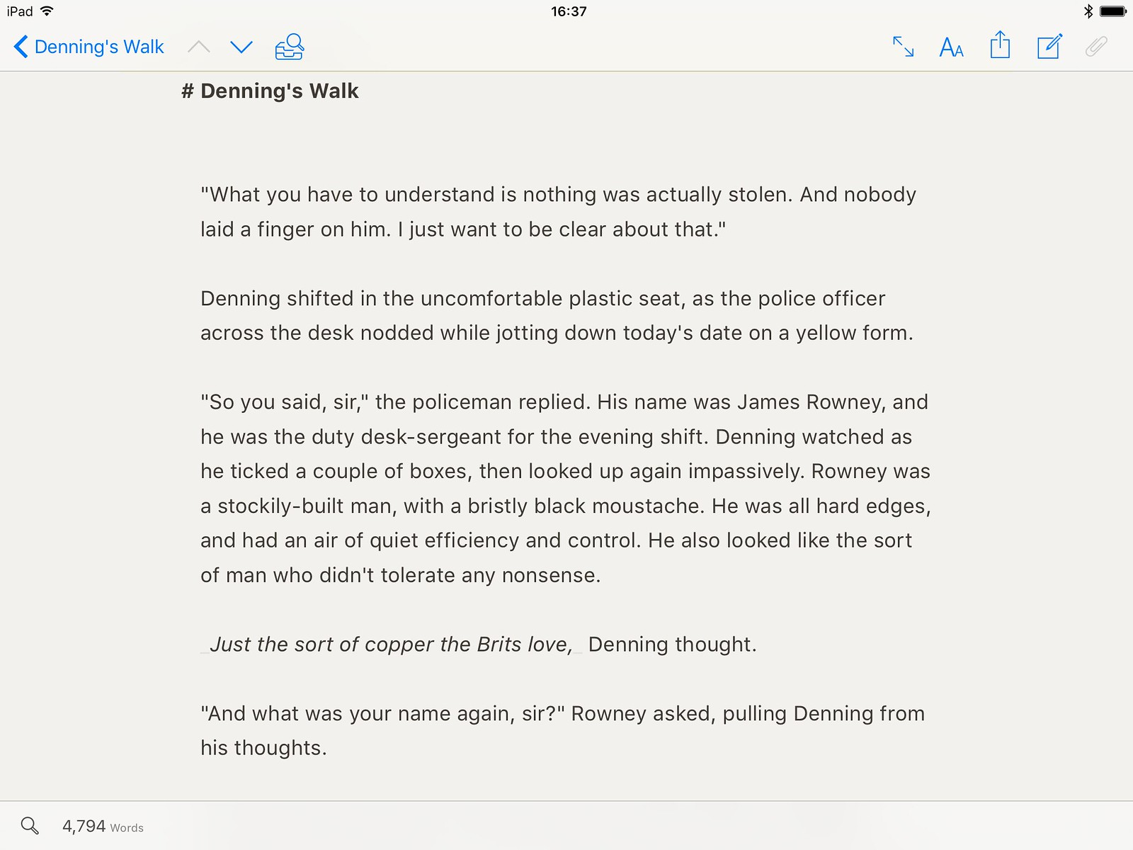 Ulysses on iPad