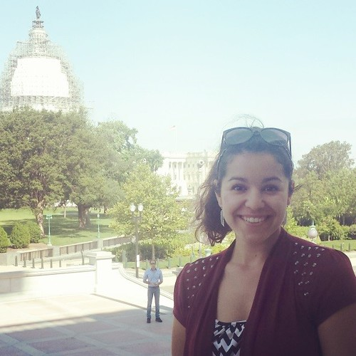 Onelisa Garza in front of the Capitol