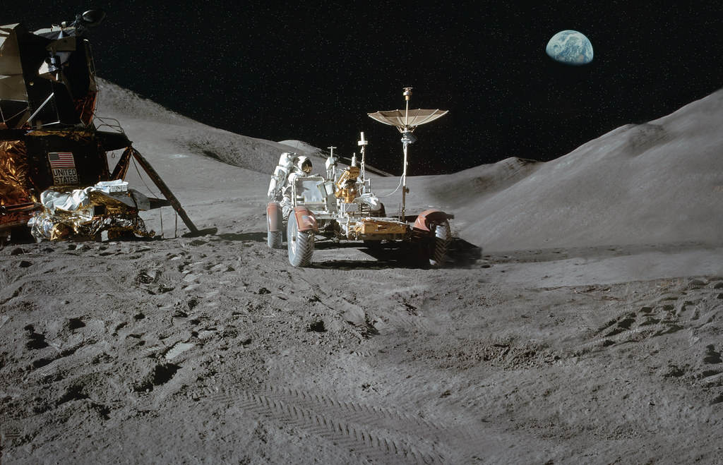 Apollo 15 Moon Landing | My widescreen composite of three ...