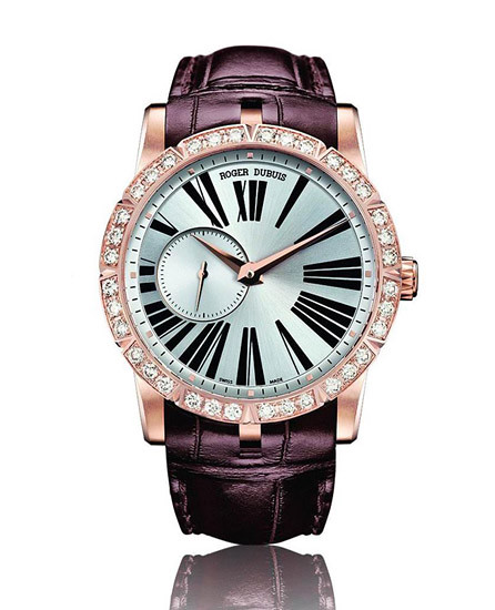 Excalibur36 series rose gold automatic diamond watch