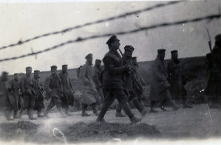 German prisoners going to the rear
