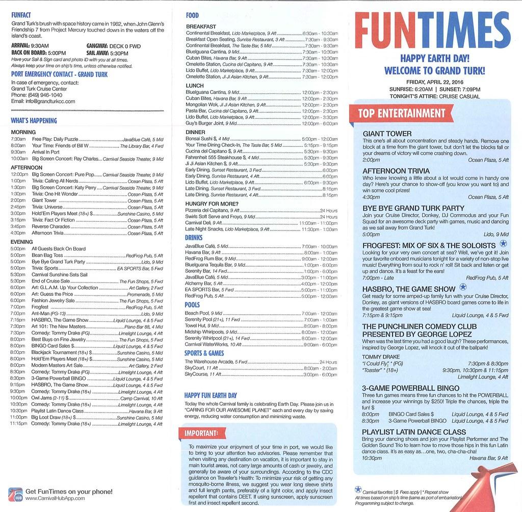 Carnival Sunshine Funtimes Cruise Critic Message Board