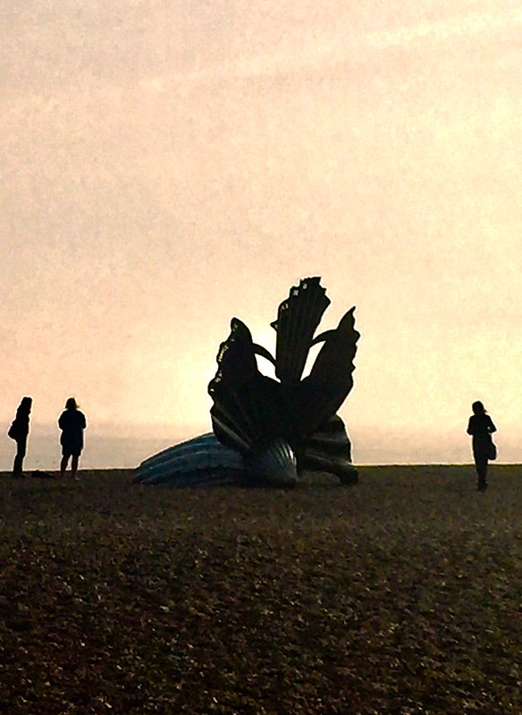 Abstract art on the beach Aldeburgh
