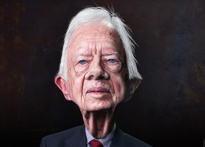 Jimmy Carter Caricature James Earl Carter Jr Aka