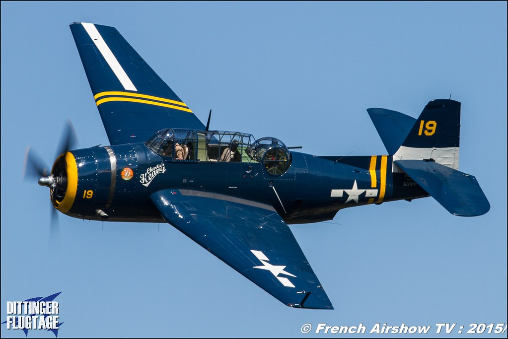Grumman/Eastern TBM-3R Avenger – HB-RDG, Dittinger Flugtage 2015 , Internationale Dittinger Flugtage, Meeting Aerien 2015