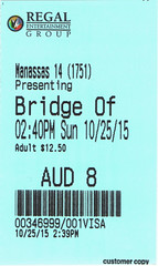 Bridge of Spies ticketstub