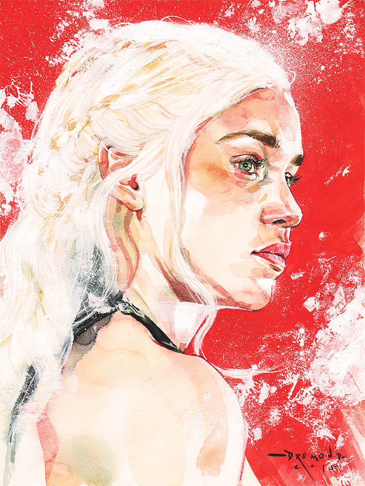 Game of Thrones by Drumond Art - Daenerys Targaryen