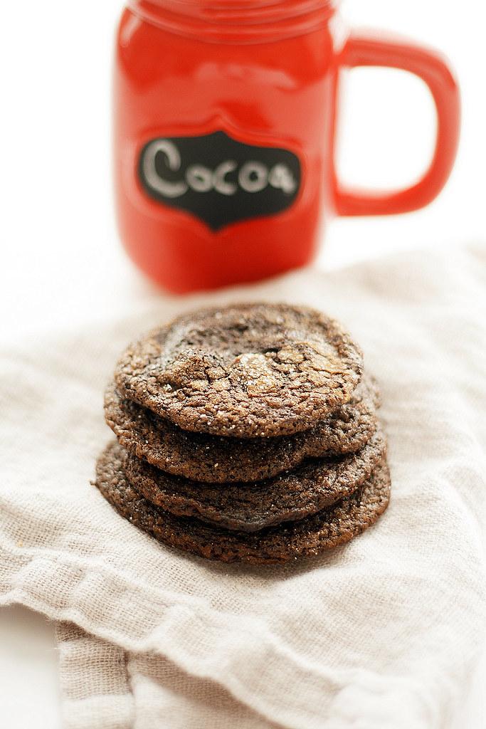 flourless fudgy gingerbread cookies