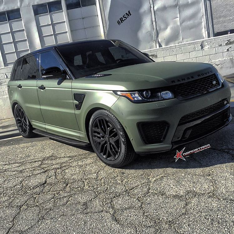 Range Rover Sport Back >> Matte Army green is the new matte black. Range Rover Sport… | Flickr