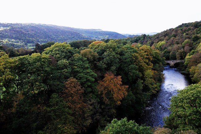 River Dee from Pontcysyllte Aqueduct,, Wales