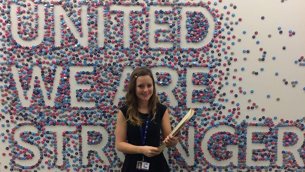 Natural Sciences graduate Esther Poole at Cancer Research UK