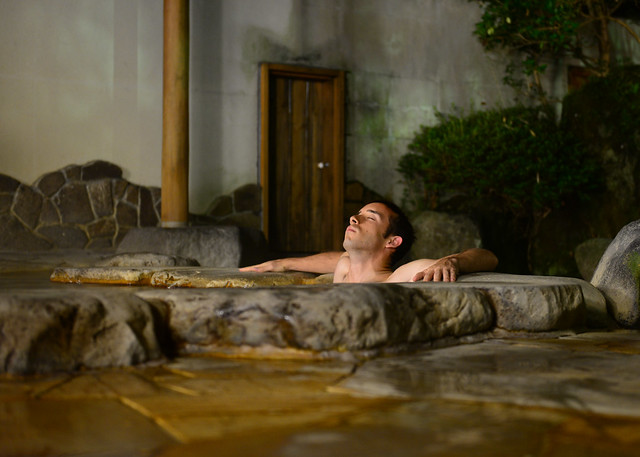 Descansando en las aguas del Ryokan de Hakone