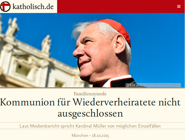 Manipulación de la Conferencia Episcopal Alemana del Cardenal Müller