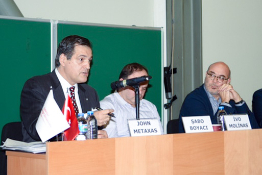 Archon John Metaxas speaks at the Social Media Conference held in Istanbul.
