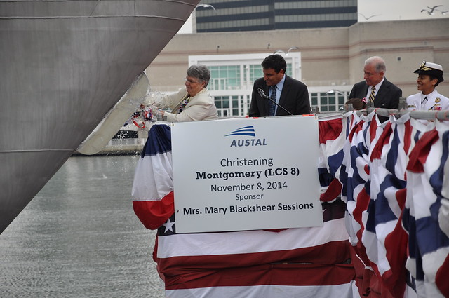 Navy Christens Littoral Combat Ship Montgomery