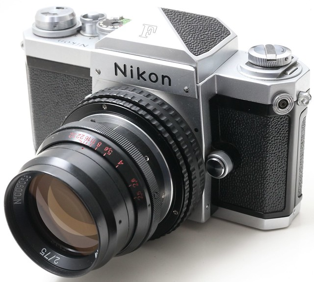 KMZ PO2-2M 75mm f/2 (改Nikon) 35mm 大電影鏡罕有玻璃接近全新   效果驚人