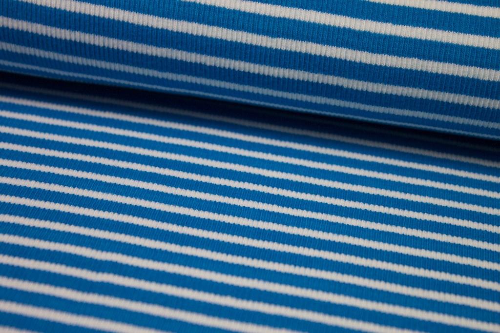 Ringelbündchen, blau-weiß