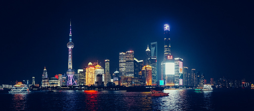 shanghai by night shanghai skyline with all here beautiful flickr. Black Bedroom Furniture Sets. Home Design Ideas