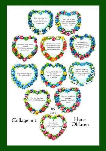 maibaum sprüche liebe Vorsicht: Kitsch ! Herz Oblaten aus alten Zeiten « Brigitte Stolle maibaum sprüche liebe