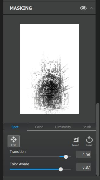 Screen Capture of Spot Effect in Topaz Impression 2