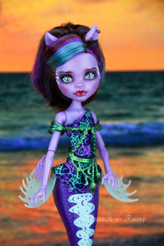 MH Scary Reef mermaid Clawdeen Wolf OOAK repaint