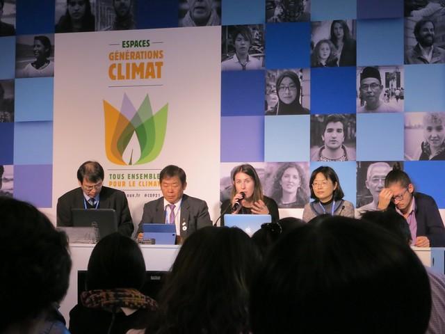氣候行動網絡(CAN)的網絡發展主任希克森分享公民組織串聯經驗。攝影:林綉娟。