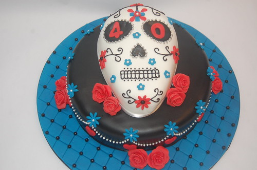 Perfect for a Halloween or Day of Dead Party! The Day of the Dead Cake - from £80.