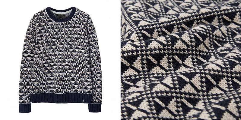 Finisterre womens fair isle crew