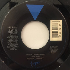 NENEH CHERRY:KISSES ON THE WIND(LABEL SIDE-A)