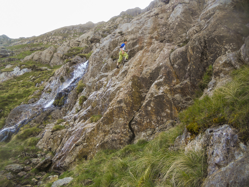 Carl trying out a grade 3 section of the Cyrn Las scramble