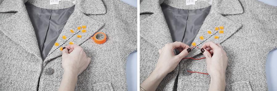 diy-abrigo-bordado-paso-02DIY Abrigo bordado · DIY Embroidered coat · Fábrica de Imaginación · Tutorial in Spanish
